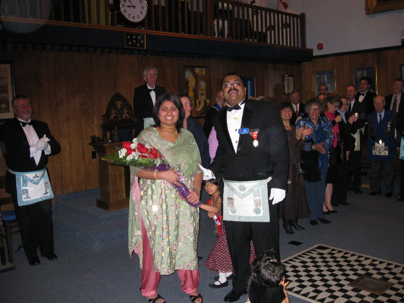 W.Bro. Romy Thomas and his Wife